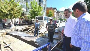 Başkan Eroğlu, alt yapı çalışmalarını yerinde inceledi