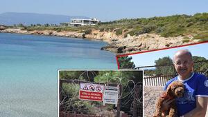 Plaj, sit alanında olduğu için kapatıldı, habersiz olanlar kapıdan döndü