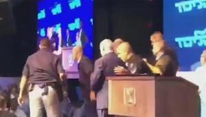 Netanyahu siren sesini duyar duymaz içeri kaçtı
