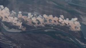 Koalisyon güçleri Dicle Nehri üzerinde yer alan DEAŞ kontrolündeki adayı bombaladı