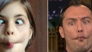 Jude Law ve Jimmy Fallondan Çocuk Taklitleri