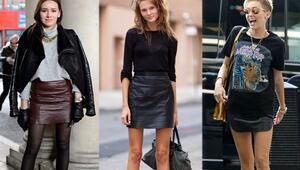 Modaya Yeni Ölçüt: Deri Etek