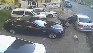 Polisin FSM Köprüsünde yakaladığı şüphelilerin yaptıkları hırsızlık kamerada