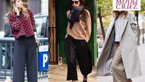 """Kışın """"Culotte"""" Pantolon Nasıl Kombinlenir"""