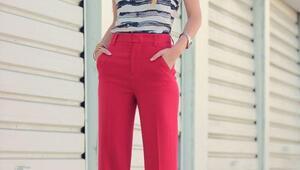 Renkli Pantolon Kombin Önerileri