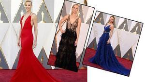 88. Oscar Töreni Kırmızı Halı Kıyafetleri