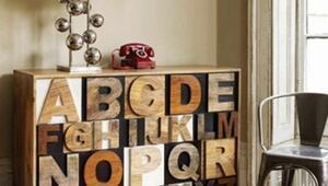 Tipografik ev aksesuarı tasarımları