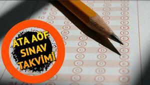 ATA AÖF sınavları ne zaman İşte ATA AÖF sınav takvimi