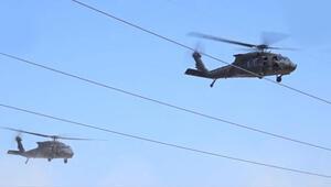 Şanlıurfa'da sıcak anlar Helikopterler peş peşe havalandı…