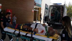 Duvar ördüğü sırada ikinci kattan düşen kişi ağır yaralandı