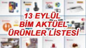 13 Eylül BİM aktüel ürünler katalogu içerisinde buzdolabı ve telefon dikkat çekiyor