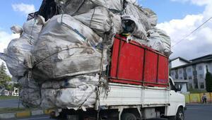 Metrelerce yükle trafikte tehlikeli yolculuk