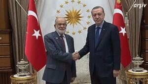 Cumhurbaşkanı Erdoğan, Karamollaoğlu ile görüştü