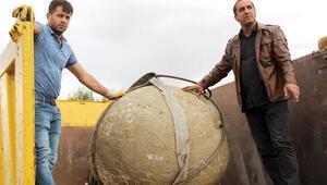 Erzurumda moğolların kullandığı mancınık gülleleri bulundu