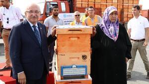 Tekirdağda bal üreticilerin 3 bin arı kovanı dağıtıldı