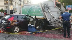 İzmirde feci kaza 2 kişi hayatını kaybetti...