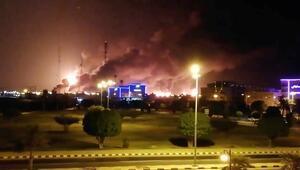 Suudi Arabistanda SİHAlar Saudi Aramcoyu vurdu