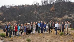 EÜ Orman Yangınlarıyla Mücadele Çalışma Grubu yangın bölgesine gitti
