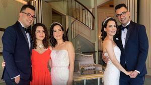 İpek Açar ile Alper Kömürcü evlendi Aslı Gönül annesini yalnız bırakmadı...