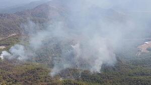 Muğla'daki orman yangını kısmen kontrol altına alındı