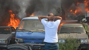 Bursa'da yedi emin deposunda büyük yangın