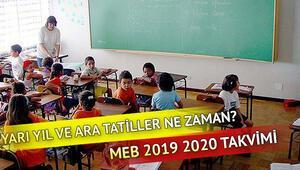 Kasım tatili ne zaman başlayacak MEB 2019 2020 ara tatiller takvimi