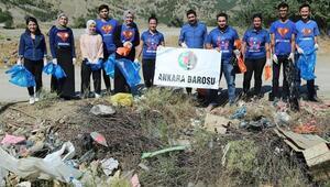 Genç avukatların 'Çöp Toplama Günü'