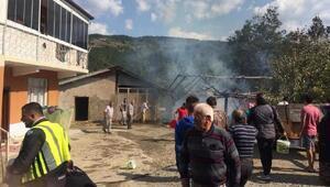 Safranboluda samanlık yandı