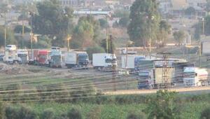 Böyle görüntülendi ABDnin 200 araçlık konvoyu...