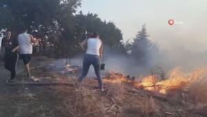 Serikte arazi yangını