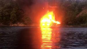 Göcekte gezi teknesinde yangın: Fransız turist öldü, 4ü yaralı 14 kişi kurtarıldı