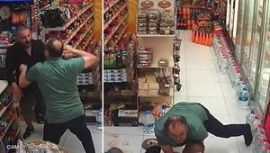 Beyoğlu'nda marketten para çalmak isteyen hırsız sert kayaya çarptı