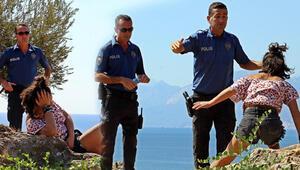Yer Antalya... Polisin zor anları