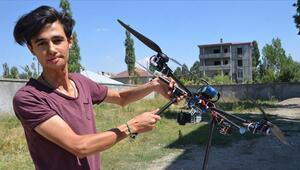 Hurdadan drone yapan genç TEKNOFESTe katılıyor