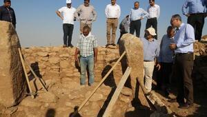 Göbeklitepeye benzeyen Harbetsuvan Tepesinde kazılar başladı