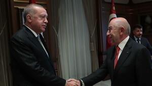 Cumhurbaşkanı Erdoğan, TFF Başkanı Özdemiri kabul etti