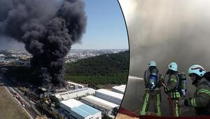 Son dakika... Tuzlada fabrikada yangın