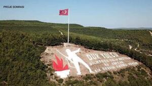 Çanakkalenin simgesi Dur Yolcu anıtı yenilendi