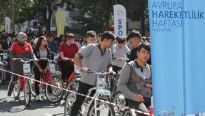 Öğrenciler Avrupa Hareketlilik Haftasında pedal çevirdi