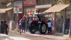 Böyle kavga görülmedi Traktörle saldırdı Yaralılar var...