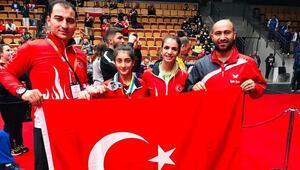 Milli sporcu Ebru Acer gümüş madalya kazandı