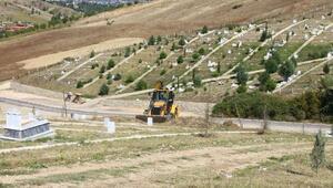 Erbaada yeni mezarlık çalışmaları