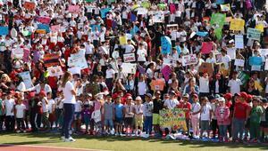 TED'li öğrencilerden iklim grevine destek