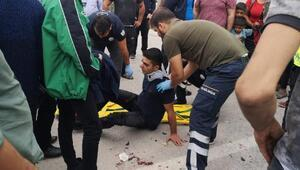 Otomobilin çarptığı lise öğrencisi yaralandı
