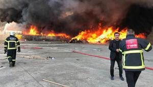 Kırıkkalede geri dönüşüm fabrikasında yangın