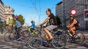 Brüksel'de Otomobilsiz Gün etkinliği