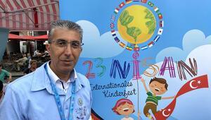 Almanya'daki 'Dünya Çocuk Günü'ne Türk çocukları renk kattı