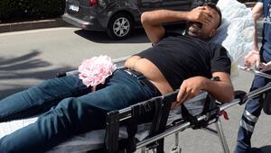 Vesikalık çektirmek için geldi, fotoğrafçıyı bacağından vurdu