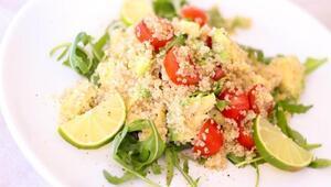 Kinoa salatası nasıl yapılır Kinoa salatası tarifi ve malzemeleri
