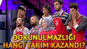 MasterChef Türkiyede dokunulmazlık oyununu hangi takım kazandı Eleme adayları kimler oldu